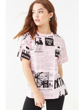 Newsprint Graphic Tee by Forever 21