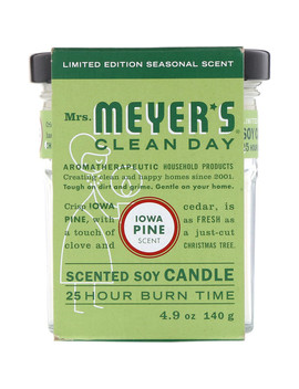 Mrs. Meyers Clean Day, Scented Soy Candle, Iowa Pine Scent, 4.9 Oz (140 G) by Mrs. Meyers Clean Day