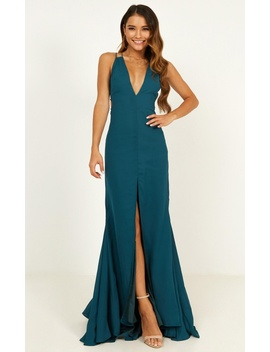 Plans Tonight Maxi Dress In Teal by Showpo Fashion