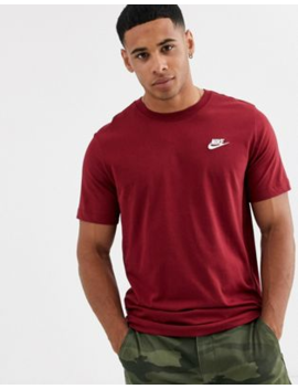 Nike – Club – T Shirt In Rot by Asos