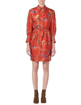 Bootsy Belted Silk Shirtdress by Sandro
