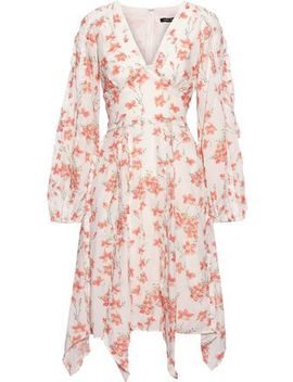 Ruffle Trimmed Floral Print Cotton Blend Dress by Love Sam