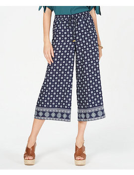 Border Print Cropped Pants by General