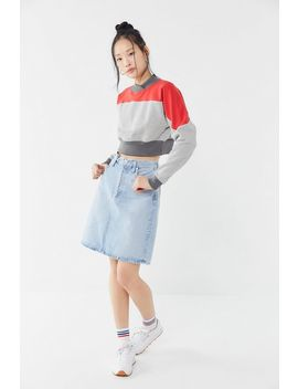 Uo Darby Colorblock Cropped Sweatshirt by Urban Outfitters