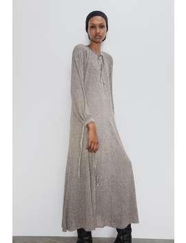 Dress With Metallic Thread New Inwoman by Zara