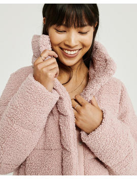 Mini Sherpa Puffer Jacket by Abercrombie & Fitch