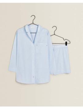 Contrasting Pajama Set Woman   Clothing   Loungewear   Bedroom by Zara Home