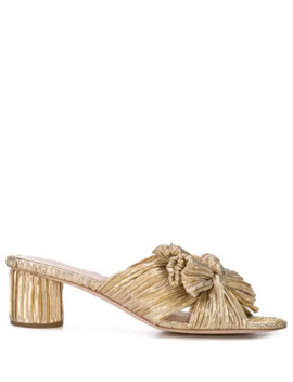Emilia Pleated Knot Mules by Loeffler Randall