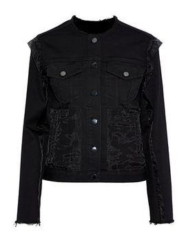 Organza Paneled Denim Jacket by J Brand