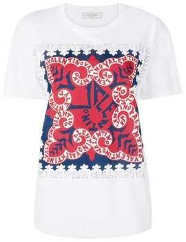 Printed Logo T Shirt by Valentino