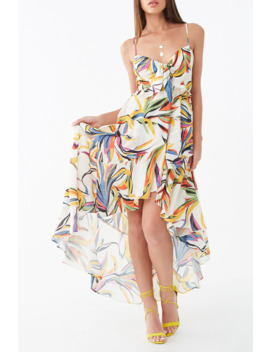 Floral Tie Front High Low Dress by Forever 21