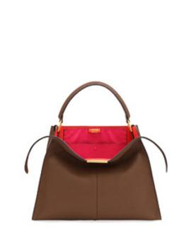 Peekaboo X Lite Calf Satchel Bag by Fendi