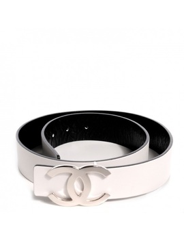 Authentic Chanel Reversible Black & White Belt by Chanel