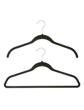 Black Premium Non Slip Velvet Hangers Pkg by Container Store