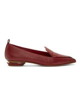 Red Beya Loafers by Nicholas Kirkwood
