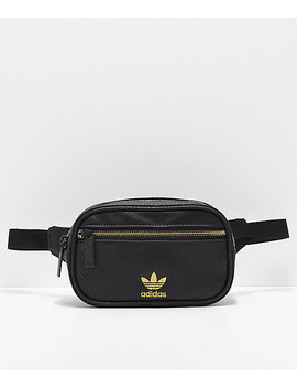 Adidas Leather Black &Amp; Gold Fanny Pack by Adidas