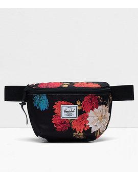 Herschel Supply Co. Fourteen Vintage Floral Black Fanny Pack by Herschel Supply
