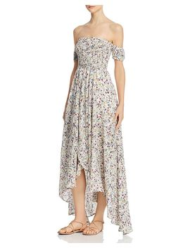 Off The Shoulder Floral Maxi Dress by Olivaceous