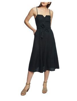 Sleeveless Linen Midi Dress by 1.State