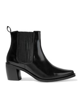 Glossed Leather Ankle Boots by Alexachung
