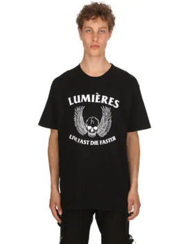 Live Fast Die Faster Jersey T Shirt by LumiÈres By Kai