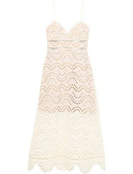 Jaya Wave Broderie Anglaise Cotton Midi Dress by Zimmermann