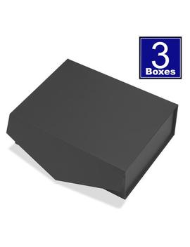 Cohaja Matte Black, 3 Pack, Gift Box With Lid, 12x9x4inch, Magnetic Closure, Multiple Use, Extremely Durable, Reusable, Gift Or Storage Box by Etsy