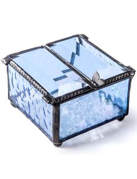 Blue Stained Glass Butterfly Keepsake Box Gift Jewelry Trinket Box Gift For Her Mom Christmas Birthday Gifts Trinket Box 185 3 by Etsy