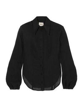 Linen Blend Gauze Shirt by Khaite