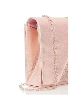 Rose Pink Glitter Shimmer Clutch Bag by Quiz