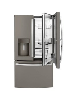27.8 Cu. Ft. French Door In Door Refrigerator With Water And Ice Dispenser   Slate by Ge