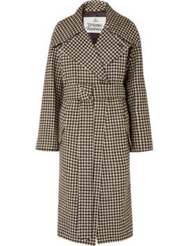 Wilma Belted Gingham Wool Coat by Vivienne Westwood