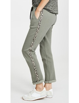 Trouser Sweatpants With Leopard Trim by Sundry
