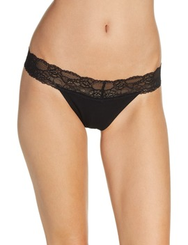 Lace Trim Thong by Bp.
