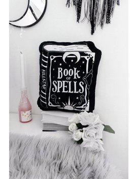 Book Of Spells Cushion by Killstar