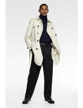 Water Repellent Trench Coatcollection Sale Man by Zara