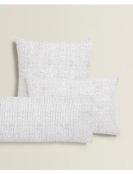 Small Check Print Pillowcase by Zara Home