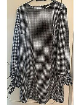 H&M Monochrome Gingham Dress New With Tags Size Uk 10 by Ebay Seller