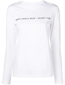Slogan Logo Patch Top by Helmut Lang