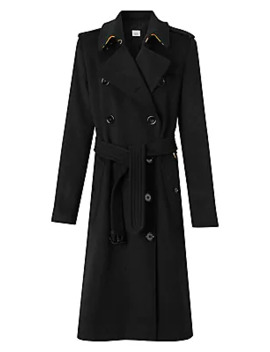 Kensington Cashmere Double Breasted Coat by Burberry