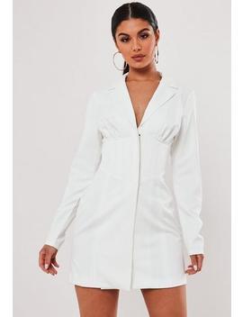 Stassie X Missguided White Corset Blazer Dress by Missguided