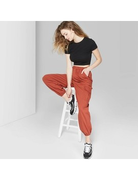 Women's High Rise Baggy Cargo Pants   Wild Fable Red by Rise Baggy Cargo Pants