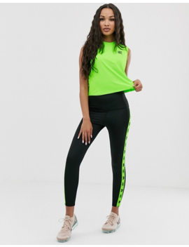 Hiit Boxy Cropped Singlet In Neon Green by Hiit
