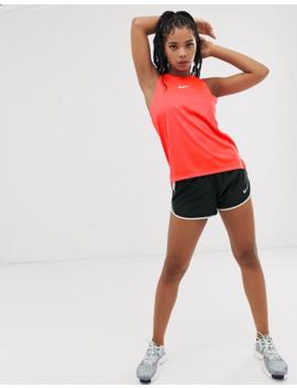 Nike Running Rebel Tank In Red by Nike