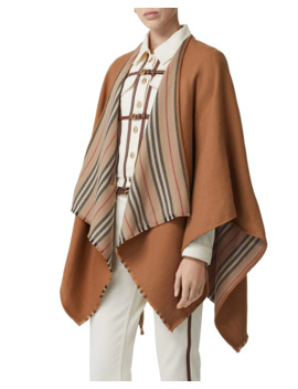 Heritage Striped Solid Cape by Burberry