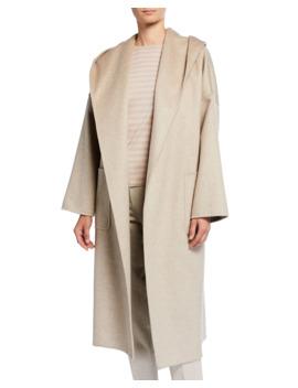 Marilyn Cashmere Hooded Coat by Maxmara