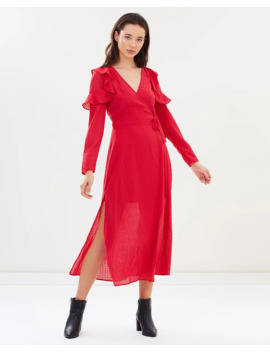 Window Ls Wrap Dress by The Fifth Label