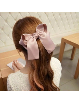 1pc Wild Big Large  Fashion Satin Women Girls Hair Band Trendy Hairpin Casual  Hair Clip Cute Ribbon Bow Ladies by Ali Express.Com
