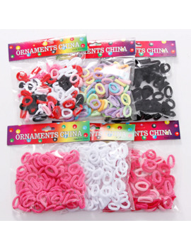 100pcs Wholesale Girls 1.5cm Colorful Small Ring Elastic Hair Bands Ponytail Holder Rubber Bands Scrunchie Kids Hair Accessories by Ali Express.Com