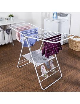 Heavy Duty Gullwing Freestanding Drying Rack by Rebrilliant